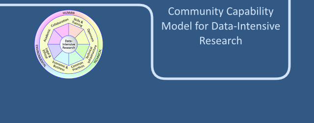 Community Capability Model for Data Intensive Research